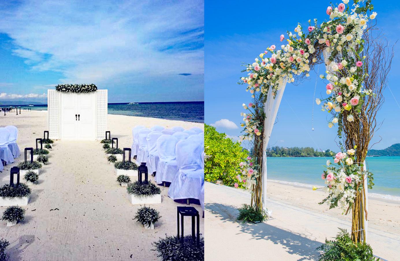 セブ島ウエディング装飾 ビーチ挙式装飾 ビーチ結婚式