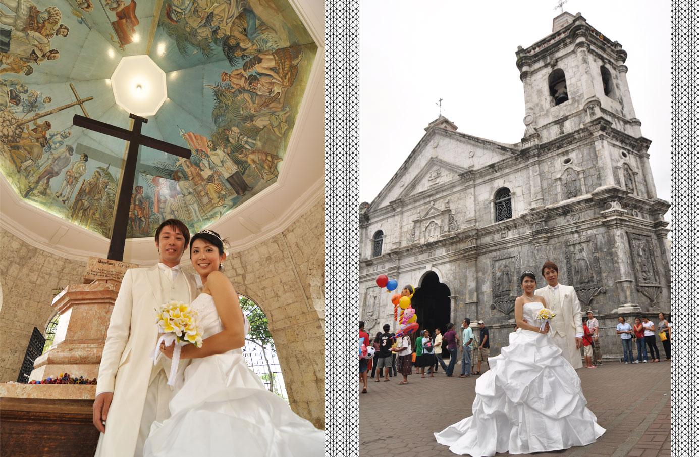 セブ写真だけ結婚式 セブインスタ映え セブ島ウエディングフォト Cebu Church Wedding Photo